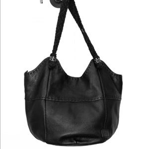 The Sak Black Leather Bucket Bag